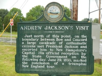 Andrew Jackson's Visit Marker image. Click for full size.