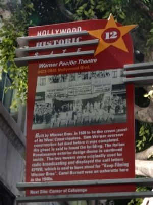 Site of Warner Pacific Theatre Marker image. Click for full size.