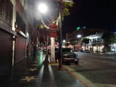 Site of Warner Pacific Theatre Marker - Wide View image. Click for full size.