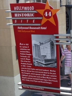 Site of the Hollywood Roosevelt Hotel Marker image. Click for full size.