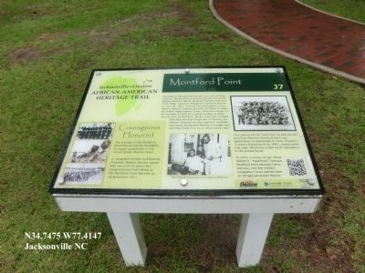 Montford Point Marker image. Click for full size.