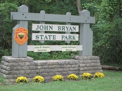 John Bryan State Park Main Gate image. Click for full size.