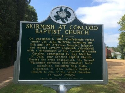 Skirmish at Concord Baptist Church Marker image. Click for full size.