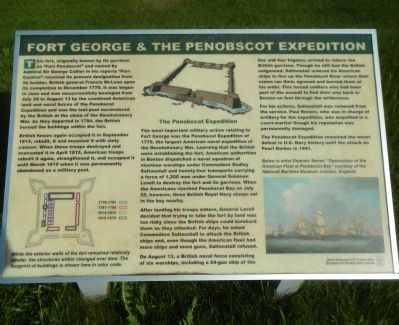 Fort George & the Penobscot Expedition Marker image. Click for full size.