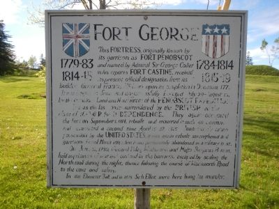 Fort George Marker image. Click for full size.