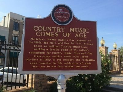 Country Music Comes of Age Marker (Front) image. Click for full size.