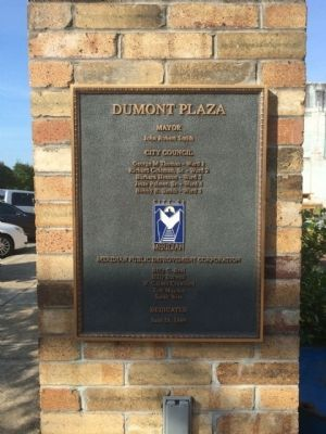 Plaza dedication image. Click for full size.