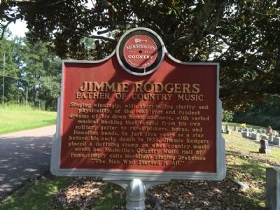 Jimmie Rodgers Marker (Front) image. Click for full size.