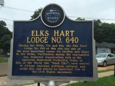 Elks Hart Lodge No. 640 Marker (Front) image. Click for full size.