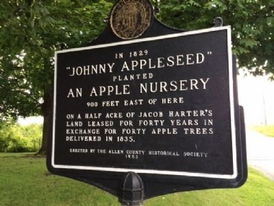 """Johnny Appleseed"" Marker image. Click for full size."