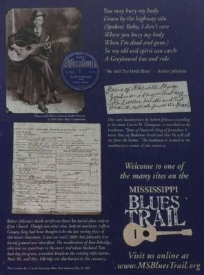 Robert Johnson Marker photos image. Click for full size.