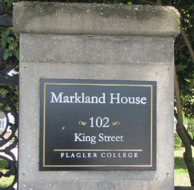 Markland Entrance Gate, located at 102 King Street image. Click for full size.