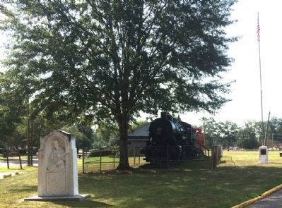 Jimmie Rodgers Monument moved here from State Roadside Park. image. Click for full size.
