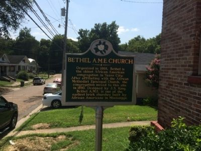 Bethel A.M.E. Church Marker Area image. Click for full size.