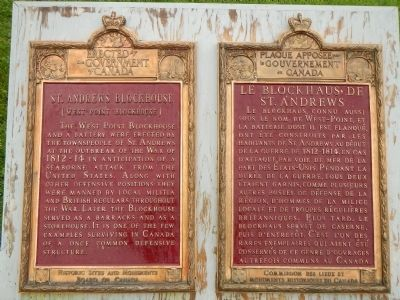 St. Andrews Blockhouse Marker image. Click for full size.