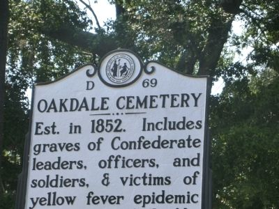 Oakdale Cemetery Marker image. Click for full size.