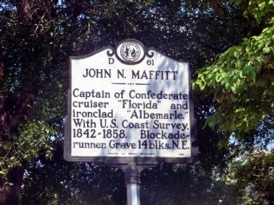 John N. Maffitt Marker image. Click for full size.