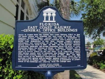 Florida East Coast Railway - General Office Buildings. Marker image. Click for full size.