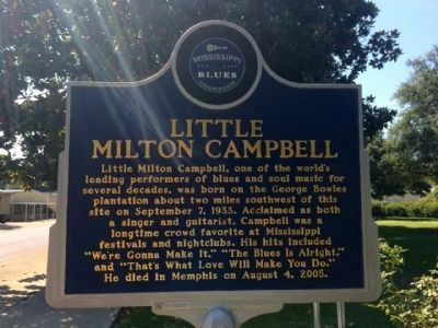 Little Milton Campbell Marker (Front) image. Click for full size.