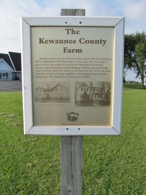 The Kewaunee County Farm Marker image. Click for full size.