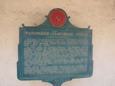Fernandez-Llambias House Marker image. Click for full size.