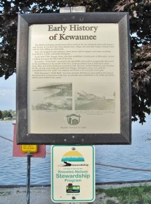 Early History of Kewaunee Marker image. Click for full size.