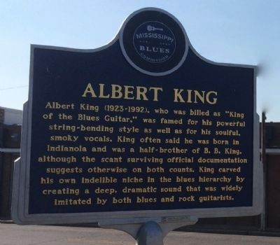 Albert King Marker (Front) image. Click for full size.