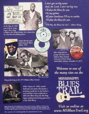 Albert King Marker photos image. Click for full size.