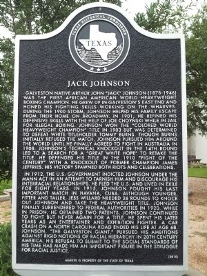 Jack Johnson Marker image. Click for full size.