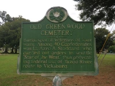 Location of Confederate Graves (Greenwood Cemetery) image. Click for full size.