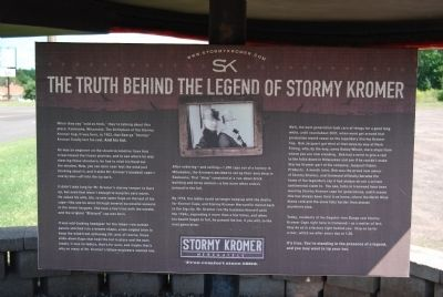 The Truth Behind the Legend of Stormy Kromer Marker image. Click for full size.