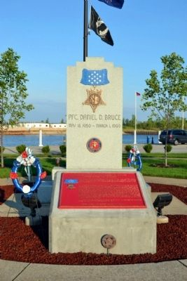 Private First Class Daniel D. Bruce Memorial image. Click for full size.