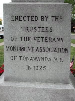 Tonawanda Civil War Memorial image. Click for full size.