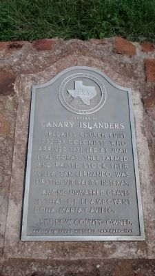 Cemetery of Canary Islanders Marker image. Click for full size.