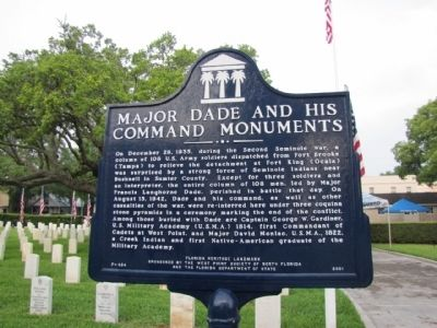 Major Dade and His Command Monuments Marker image. Click for full size.