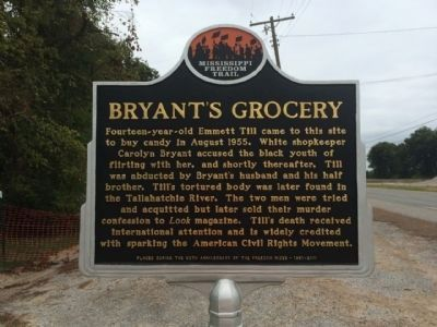 Bryant's Grocery Marker (Front) image. Click for full size.