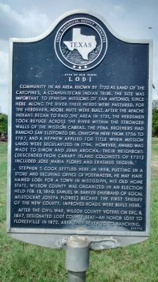Site of Old Town: Lodi Marker image. Click for full size.