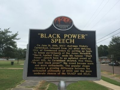 """Black Power"" Speech Marker (Front) image. Click for full size."