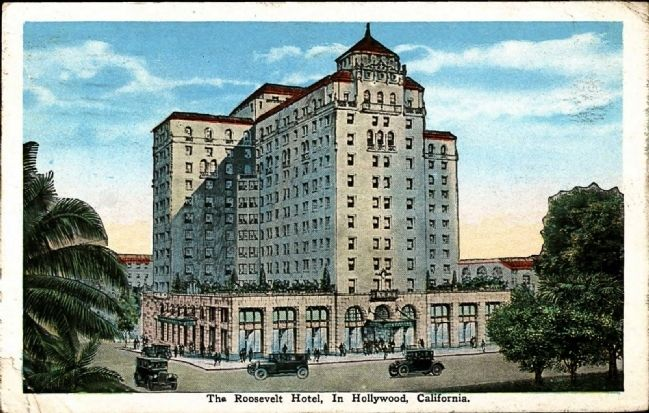 <i>The Roosevelt Hotel in Hollywood, California</i> image. Click for full size.