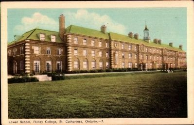 <i>Lower School, Ridley College, St. Catharines, Ontario</i> image. Click for full size.