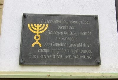 Mainstockheim Synagogue Marker image. Click for full size.