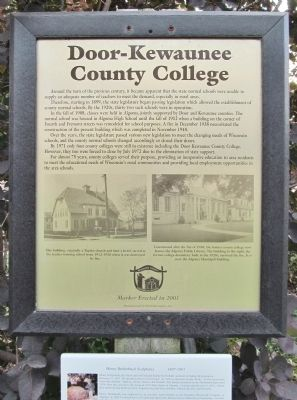 Door-Kewaunee County College Marker image. Click for full size.
