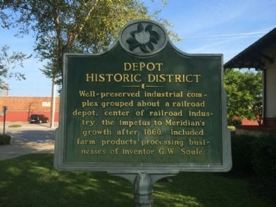 Nearby Train Depot Marker image. Click for full size.