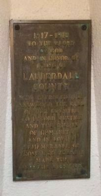Lauderdale County World War I Memorial Plaque image. Click for full size.