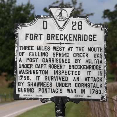 Fort Breckenridge Marker image. Click for full size.