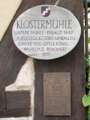 Klosterm�hle / Monastery Mill Marker image. Click for full size.