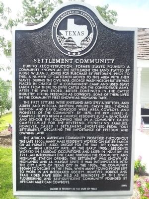 Settlement Community Marker image. Click for full size.