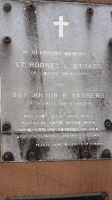 In Memory of Lt. Rodney L. Stokes and Sgt. Julius G. Skyberg Marker image. Click for full size.