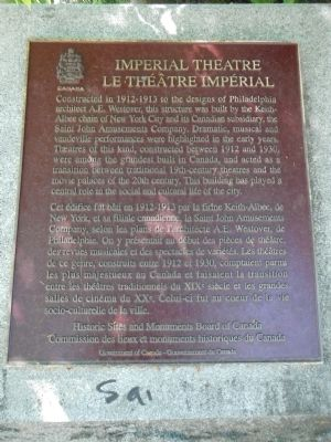 Imperial Theatre Marker image. Click for full size.