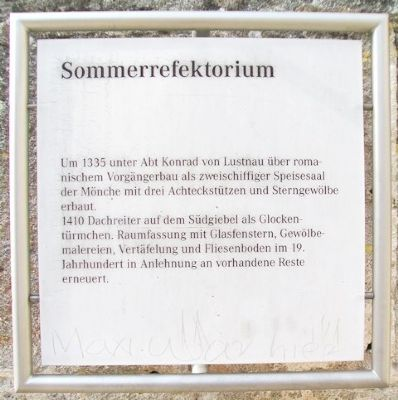 Sommerrefektorium / Summer Refectory Marker image. Click for full size.